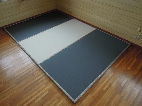カラー畳(墨染色+灰桜色)